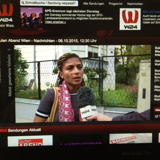 Interview with Ensaf on Austrian TV